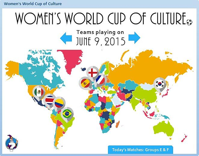 Women S World Cup Interactive Map